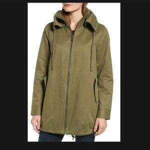 Sam Edelman A-Line army green cotton spring coat